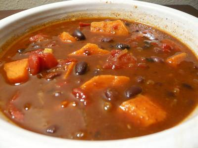 Black Bean Sweet Potato Chili