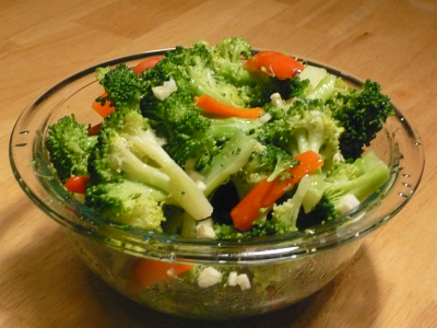 Broccoli Red Pepper with Garlic