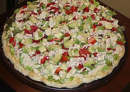 Gluten Free Medeterranean Pizza