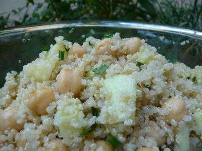 Minted Quinoa with Garbanzos